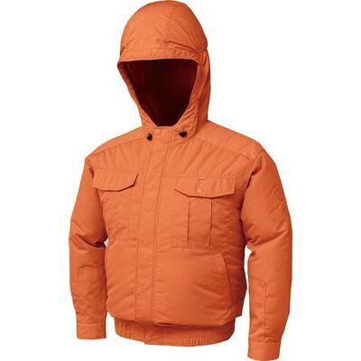 空調服 フード付チタン肩当有NSP空調服(ウェアのみ) NB-101-OR-XL