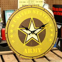 デラクルーズ MDF WALL CLOCK/デザイン掛け時計/U.S.ARMY