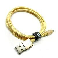 Libra ロープタイプType-C2.0ケーブル1m ゴールド LBR-TCC1mGD