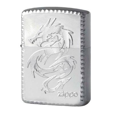 zippo アーマー ジッポーライターシャイニング ドラゴン龍シルバー SV