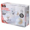 s.a.gear フィットネス 健康 バルーン ジムボール 55CM ユニセックス 55 ホワイト SA-Y15-203-051