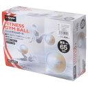 s.a.gear フィットネス 健康 バルーン ジムボール 65CM ユニセックス 65CM ホワイト SA-Y15-203-052