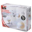 s.a.gear フィットネス 健康 バルーン ジムボール 75CM ユニセックス 75 ホワイト SA-Y15-203-053