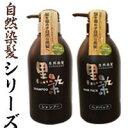 黒染シャンプー500mL シャンプー 椿油+黒染ヘアパック 500ml