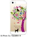 タカラ写真印刷iPhone 5s 5用 クリアハードケース Clear Fashion 花とイヌ 22-ip5s-ca0073 22ip5sca0073