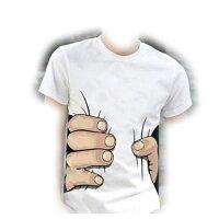 話題の3DおもしろTシャツ つかまれた? ユニセックス