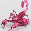 3Dペーパーパズル サソリ 蛍光ピンク ウラノ ペーパーPサソリケイコウピンク
