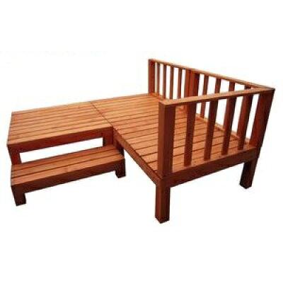 ウッドデッキ 天然木 シダー製 縁台リニューアル 0.75坪 7点 ライトブラウン