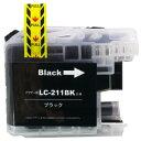 ブラザー用 LC211BK-4SET ブラックお徳用4本セット (互換インクカートリッジ)