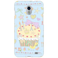 (au GALAXY S2 WiMAX ISW11SC専用)SECOND SKIN全面プリントケース(uistore「PrettyWorld(blue)」)