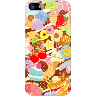 milk's design しらくらゆりこ  sweet time  / for iphone 5/softbank  全面