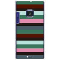 Moisture マルチカラーボーダー グリーン (クリア) d / for LUMIX Phone 102P/SoftBank (SECOND SKIN)(平面)