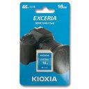 KIOXIA 16GB SDHCカード EXCERIA Class10 LNEX1L016GG4
