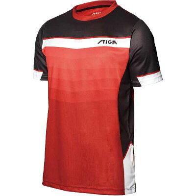 stiga 卓球ユニフォーム river shirt リバーシャツ ダークレッド  s 1854385111