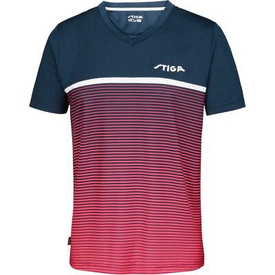 STIGA スティガ 卓球ユニフォーム LINES SHIRT ラインズシャツ ピンク S