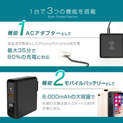 CIO 充電器 モバイルバッテリー ワイヤレス CIO-SC2