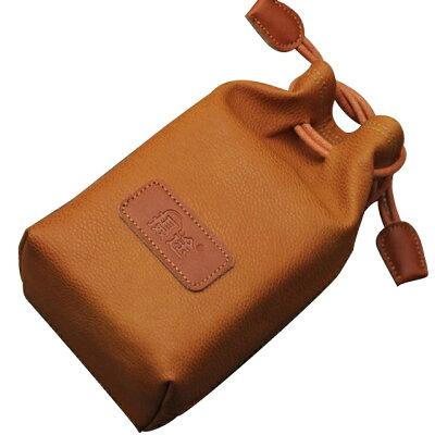 カメラポーチ 巾着型 ブラウンMサイズA00976