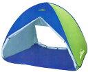 フルクローズワンタッチ サンシェードテント 青色 テント ワンタッチ 折りたたみ キャンプ ブラインド付き