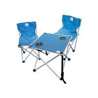 ハック  折りたたみチェア&テーブル  ブルー HAC2-0260-blue