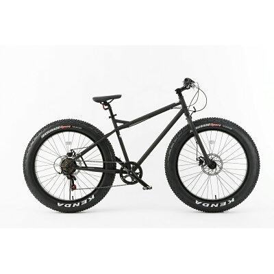 ファットバイク FATBIKE 26インチ 7段変速 自転車 マットブラック