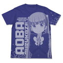 NEW GAME! 涼風青葉 オールプリントTシャツ ナイトブルー / XL グッズ