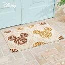 クリーンテックス・ジャパン Disney Mat Collection ディズニー 玄関マット Mickey ミッキー ロココ調 ブラウン 60 × 90 cm BK00032