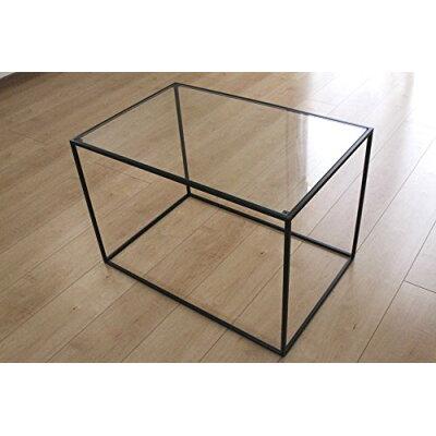 トレイテーブル 600×400BKガラス