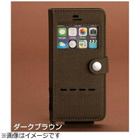 ROOT iPhone SE / 5s / 5用 Gravity Shock Resist Diary Case Window Flip ダークブラウン ROOT CO. ポケット・ストラップホール付
