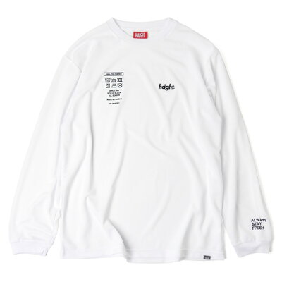 HAIGHT Tag Dry L/S Tee ホワイト HT-W191001