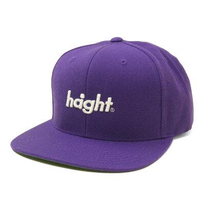 ヘイト HAIGHT Round Logo Snapback Cap パープル HT-W186001