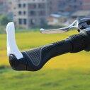 人間工学設計 自転車ハンドル用グリップ 左右セット ホワイト マウンテンバイク クロスバイク