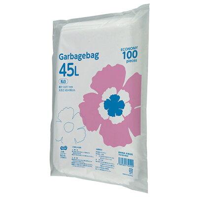 オリジナル TANOSEE ゴミ袋エコノミー 乳白半透明 45L