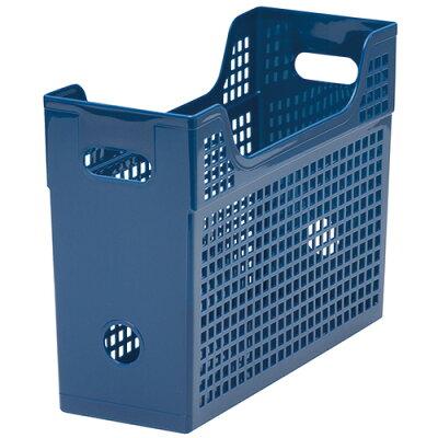メッシュボックス A4ヨコ 背幅123mm 青