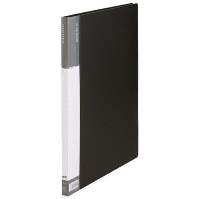 オリジナル TANOSEE クリヤーファイル 台紙入 B4タテ 20ポケット 背幅15mm ダークグレー