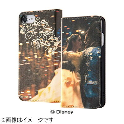 INGREM iPhone 7用 手帳型ケース 美女と野獣17 IJ-DP7LC/BL017