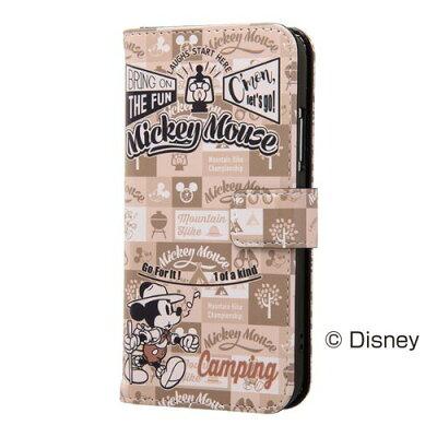 イングレム iPhone X ディズニー 手帳型ケース マグネット/ミッキーマウス15(1コ入)