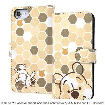 iPhone 8/7/6s/6 手帳型アートケース マグネット プーさん33 IN-DP7S6MLC2/PO033(1コ入)