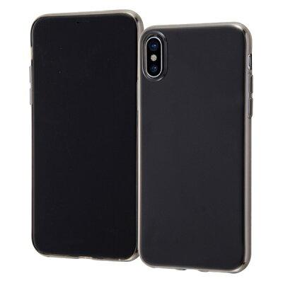 イングレム iPhone XS/X TPUソフトケース ゼログラビティ/ブラック INA-P20TC7/BM ブラック