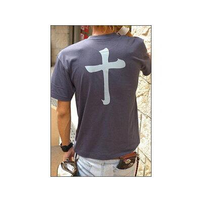 戦国武将Tシャツ 島津義弘 十文字 XSサイズ 半袖 綿100% 藍鉄 Uネック おもしろ