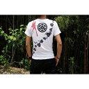 戦国武将Tシャツ (長宗我部元親 七つ方喰) Mサイズ 半袖 ホワイト(白)