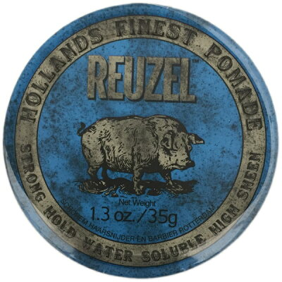 reuzel ルーゾー ポマード ブルー strong hold high sheen/blue package