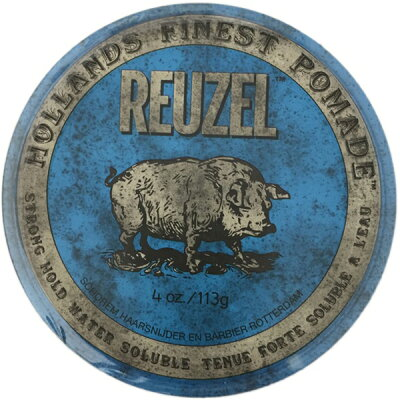 REUZEL ルーゾー ポマード ブルー STRONG HOLD HIGH SHEEN/BLUE Package113g