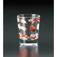 日本の心シリーズ 寿司柄 ガラスショットグラス