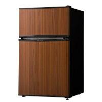 冷蔵庫 simplus 2ドア冷蔵庫 90L SP-290WD ダークウッド