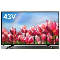 テレビ 43V 43型 43インチ Wチューナー内蔵 フルハイビジョン液晶テレビ 外付けHDD録画 simplus シンプラス