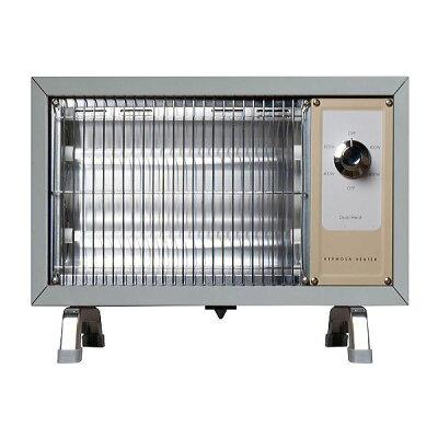 レトロストーブ 電気 おしゃれ 暖房器具ハモサ レトロ ヒーター サックスグレーHermosa RETRO HEATER RH-003G