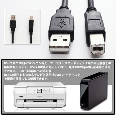 ウルマックス USBケーブル USB2.0 ブラック 3m UL-CAPC007