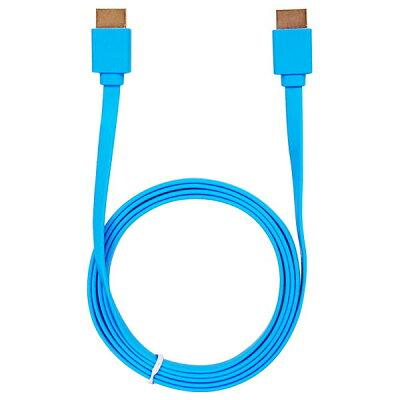 ウルマックス フラットHDMIケーブル 1.5m ブルー ver1.4 UL-CAVS007