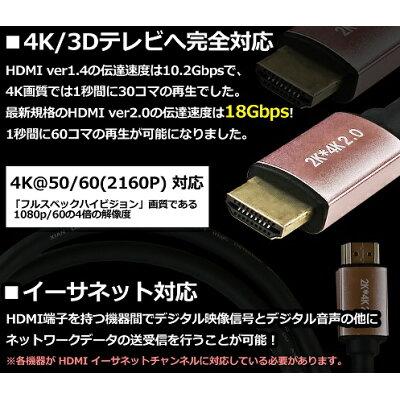 ウルマックス HDMIケーブル 10m Ver2.0 ハイスピード ブラック