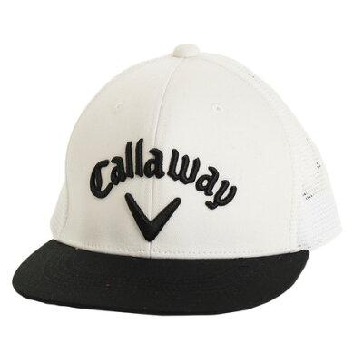 キャロウェイ メンズ ゴルフウェア フラットメッシュキャップ ホワイト/フリーサイズ 8984607